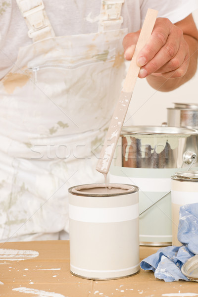 Home decorating mixing up paint color can Stock photo © CandyboxPhoto