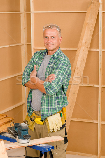 Handyman mature professional diy home improvement Stock photo © CandyboxPhoto