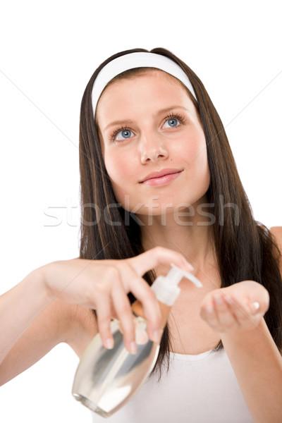 Zdjęcia stock: Ciało · opieki · kobieta · biały