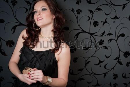 Kadın parti elbise genç gülen portre Stok fotoğraf © CandyboxPhoto