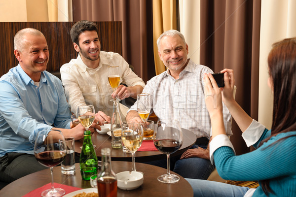 After work drink business colleagues take picture Stock photo © CandyboxPhoto