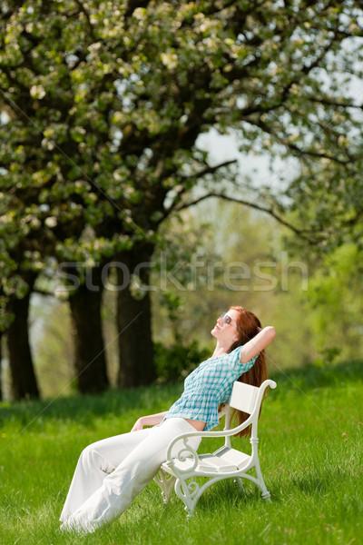 Foto stock: Relajante · flor · árbol · primavera