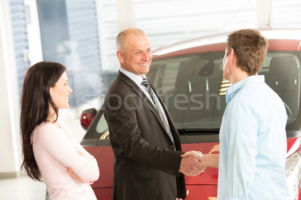 Caucasian couple purchasing a car Stock photo © CandyboxPhoto