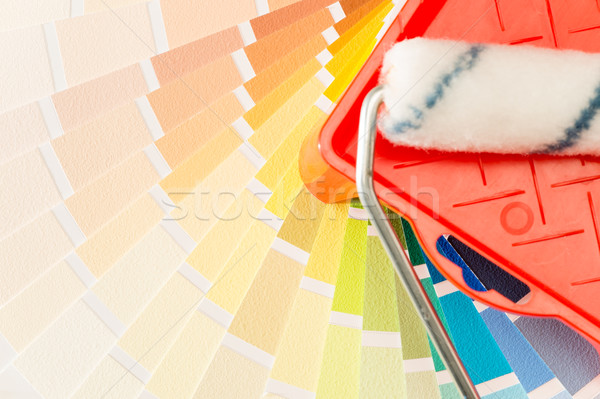 Stock photo: A variety of painting equipment