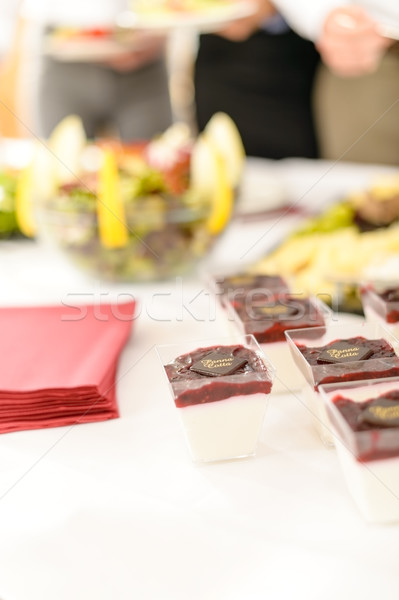 Restauration mini dessert desserts buffet Photo stock © CandyboxPhoto