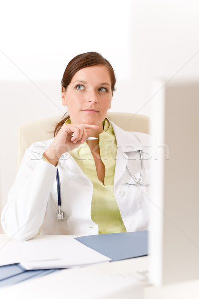 Female doctor at medical office Stock photo © CandyboxPhoto