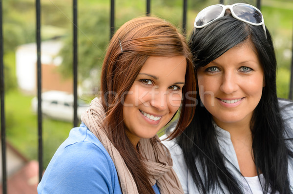 Mother and daughter smiling relaxing and bonding Stock photo © CandyboxPhoto