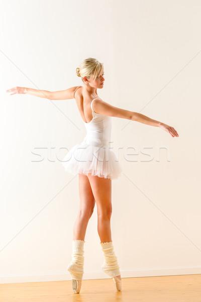 красивой балерина танцы студию женщину балерины Сток-фото © CandyboxPhoto
