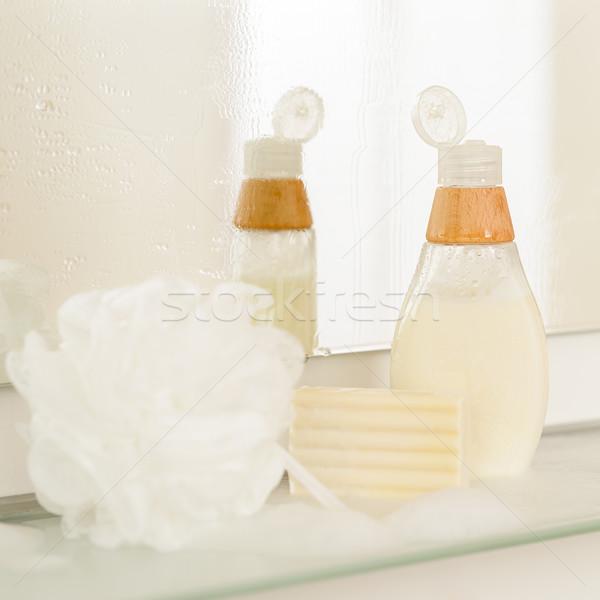 Сток-фото: ванную · тело · ухода · продукции · шельфа