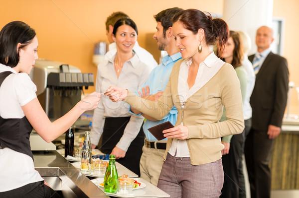 Kadın kredi kartı kasiyer gıda Stok fotoğraf © CandyboxPhoto