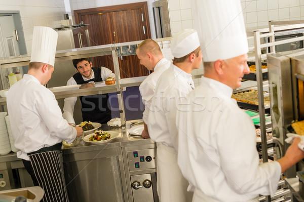 Grup profesyonel mutfak restoran hizmet Stok fotoğraf © CandyboxPhoto