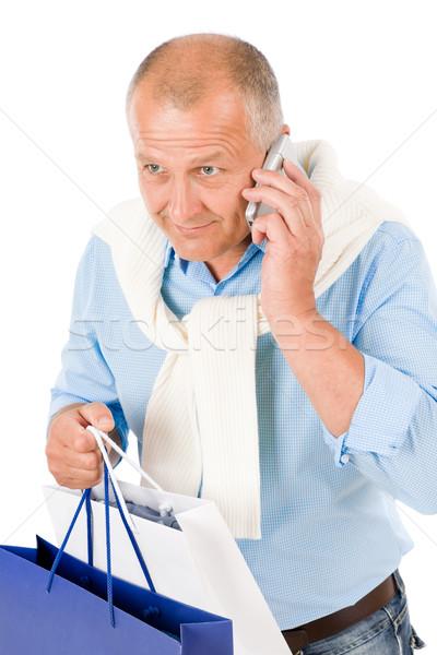 Foto stock: Senior · feliz · homem · elegante