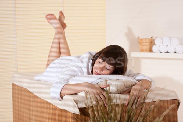 Foto stock: Spa · jóvenes · femenino · cliente · bienestar · masaje