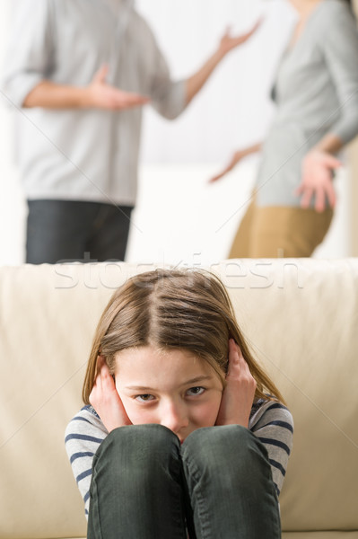 Little girl is troubled because parents arguing Stock photo © CandyboxPhoto