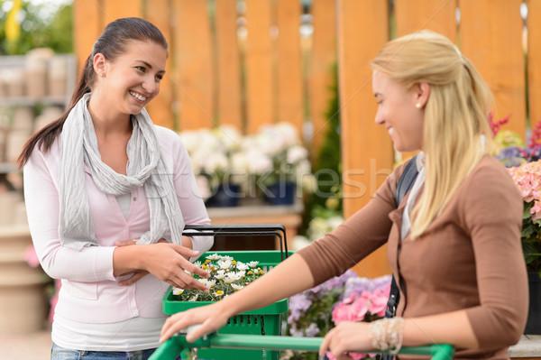 Two smiling woman shopping plants garden center Stock photo © CandyboxPhoto