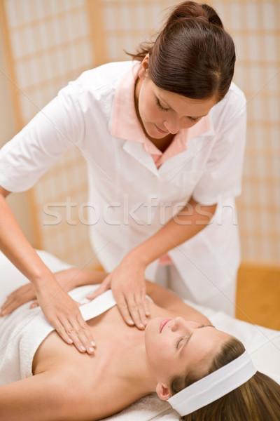 Bőrápolás nő dekoltázs masszázs szalon nap Stock fotó © CandyboxPhoto