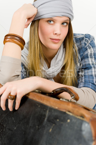 Fashion model - young woman country style Stock photo © CandyboxPhoto