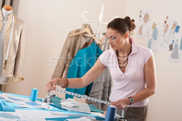 Female fashion designer working at studio Stock photo © CandyboxPhoto