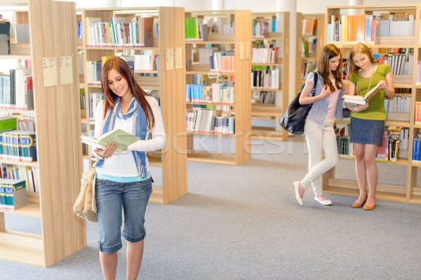 High school students at library read books Stock photo © CandyboxPhoto