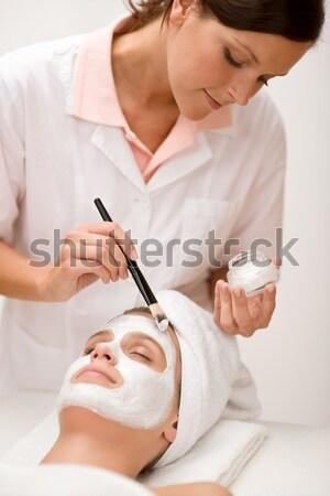 Mężczyzna kosmetyki maska luksusowe spa centrum Zdjęcia stock © CandyboxPhoto