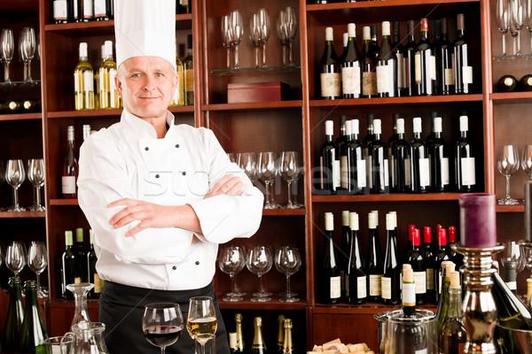 Chef cook confident professional posing restaurant Stock photo © CandyboxPhoto