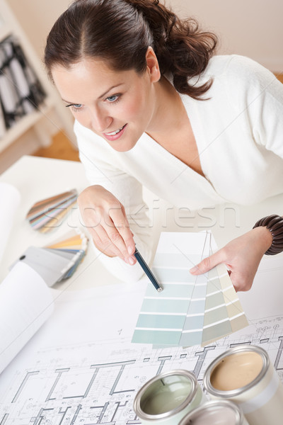 Young female interior designer working at office  Stock photo © CandyboxPhoto