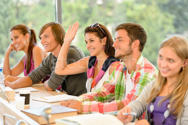 High-school student raising her hand in class Stock photo © CandyboxPhoto