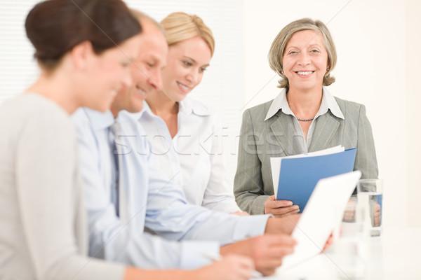 ストックフォト: ビジネスチーム · かなり · 実業 · 同僚 · 魅力的な · 幸せ