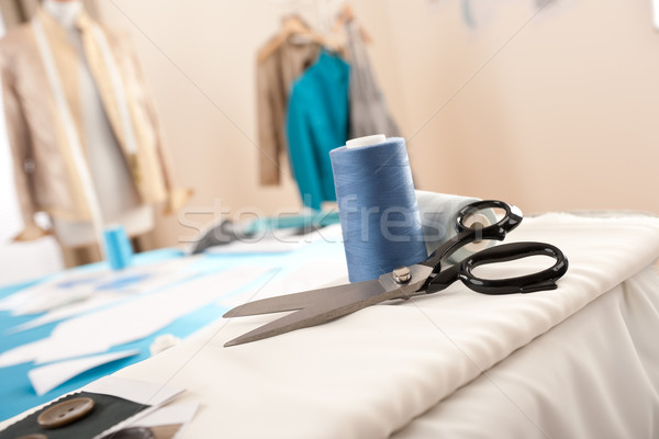 Foto stock: Moda · disenador · estudio · profesional · maniquí