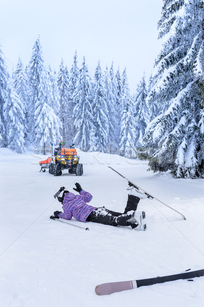 Ski sauvetage blessés skieur accident femme Photo stock © CandyboxPhoto