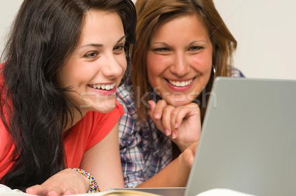 Joyful teens browsing on internet Stock photo © CandyboxPhoto
