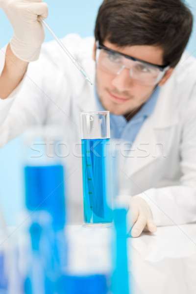 Chemistry experiment -  scientist in laboratory Stock photo © CandyboxPhoto