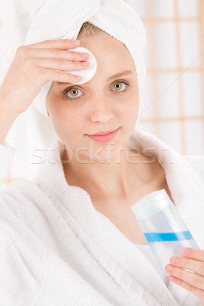 Acne tiener vrouw schone huid Stockfoto © CandyboxPhoto