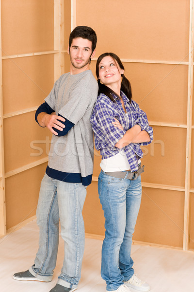 Home improvement young happy couple new house Stock photo © CandyboxPhoto