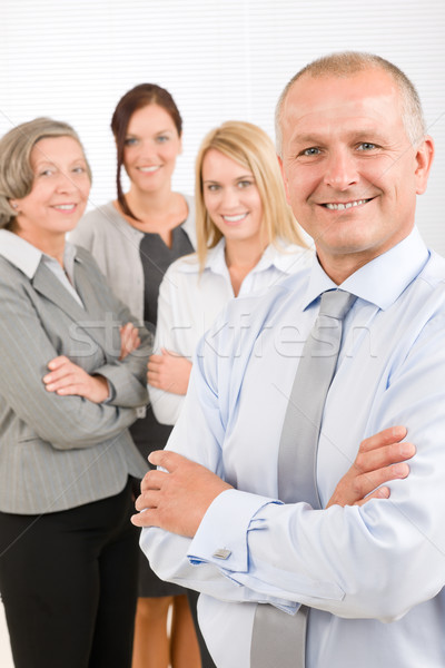 Business team senior manager with happy colleagues Stock photo © CandyboxPhoto