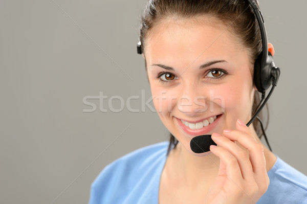 Friendly Support Phone Operator Wearing Headset Stock Photo C Jean Marie Guyon Candyboxphoto 4106735 Stockfresh