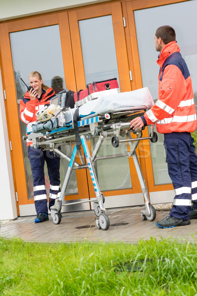 Emergency doctor home visit call radio ambulance Stock photo © CandyboxPhoto