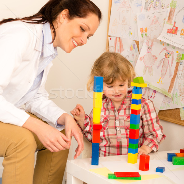 Visit at pediatrician child girl playing Stock photo © CandyboxPhoto