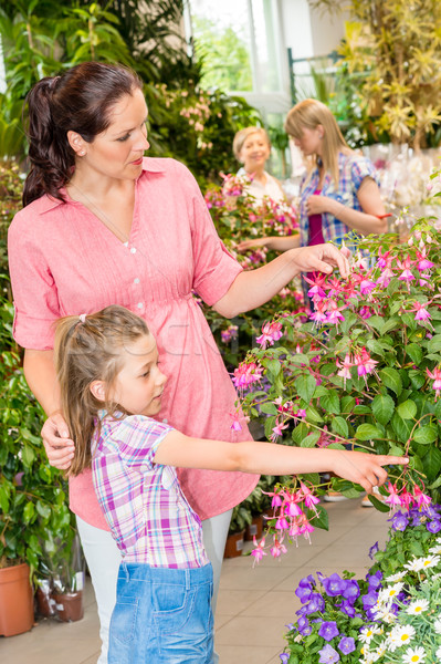 Young woman with daughter visit botanic garden Stock photo © CandyboxPhoto