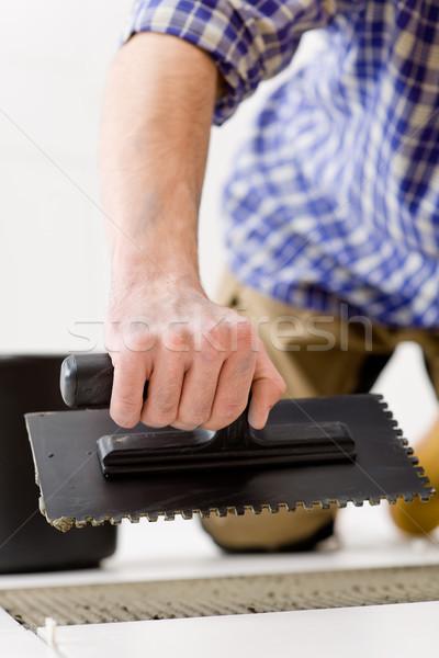 Home improvement klusjesman leggen tegel man Stockfoto © CandyboxPhoto