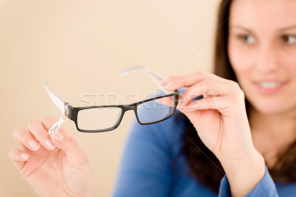 Ottico client scegliere prescrizione occhiali ritratto Foto d'archivio © CandyboxPhoto