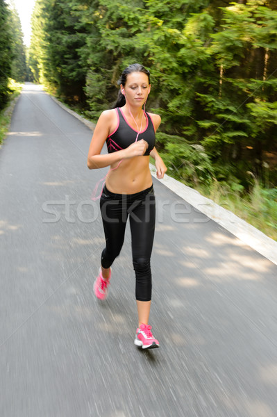 Woman running marathon race motion blur Stock photo © CandyboxPhoto