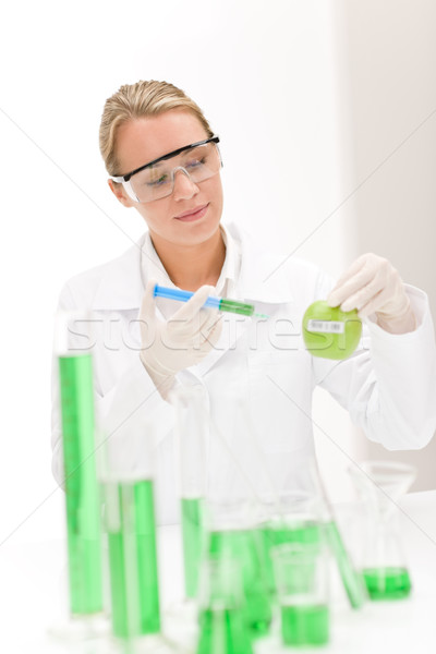 Genetic engineering - scientist in laboratory Stock photo © CandyboxPhoto