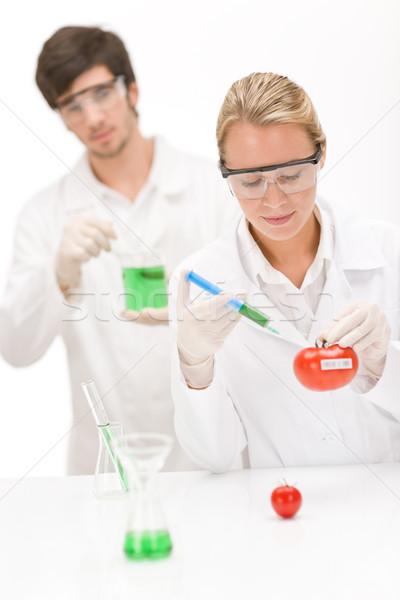 Genético engenharia cientista laboratório cientistas Foto stock © CandyboxPhoto
