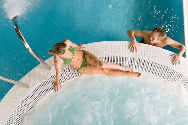 Topo ver relaxar piscina sessão Foto stock © CandyboxPhoto