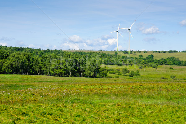 Moulin à vent écologie campagne ciel bleu affaires Photo stock © CandyboxPhoto