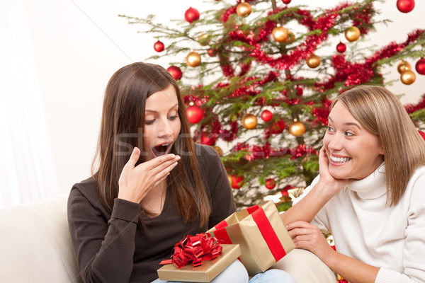 Two women unpacking Christmas present  Stock photo © CandyboxPhoto