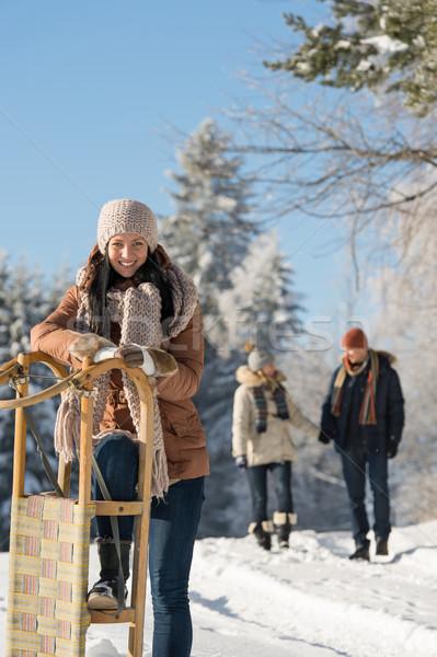 晴朗 冬天 天 人 雪 商業照片 © CandyboxPhoto
