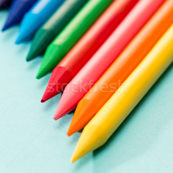 Kid's coloring crayons school art Stock photo © CandyboxPhoto