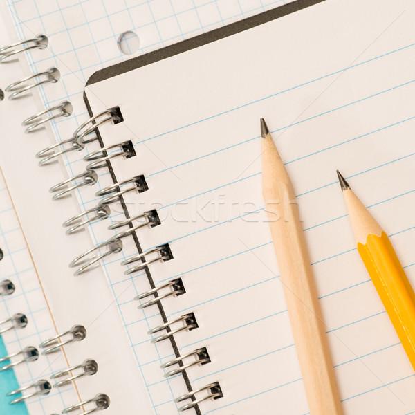 школы острый карандашей блокнот Сток-фото © CandyboxPhoto